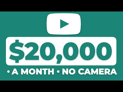 How to EASILY Make $20,000/Month on YouTube! | NO CAMERA (Make Money Online)