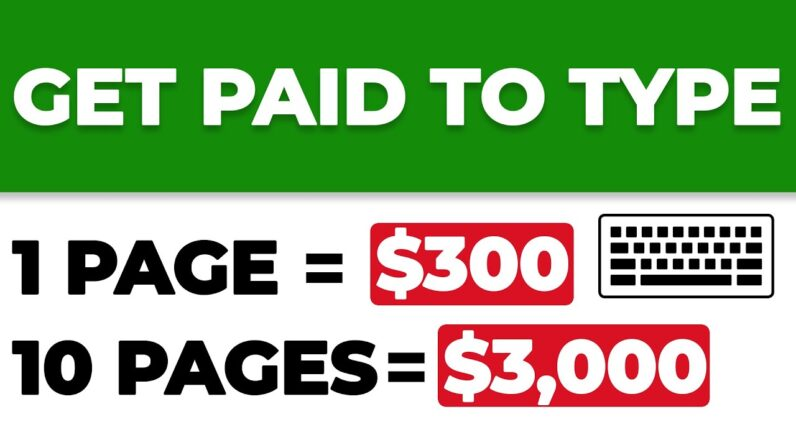 Earn $3000 Typing Names Online For FREE (Make Money Online)