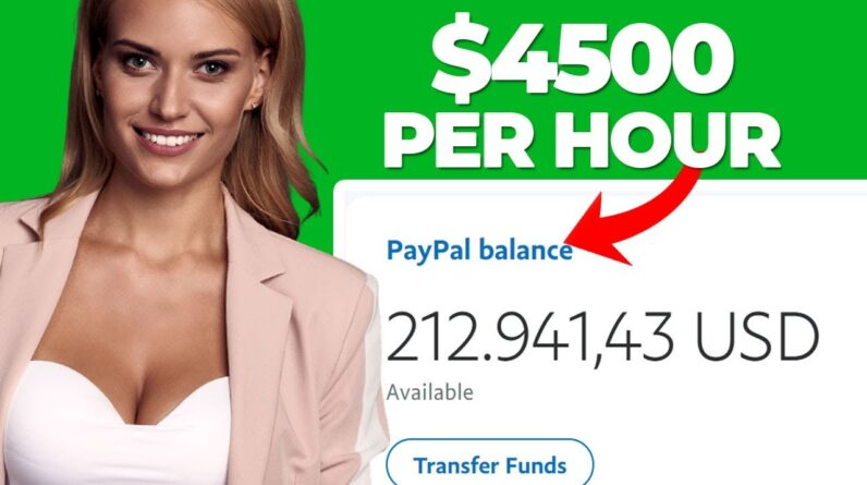 Earn $4,500 Per Day With FREE Website (PayPal Money   Make Money Online)