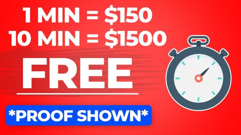 Get Paid $150 Every 60 Seconds For FREE (PayPal Money Fast) | Make Money Online